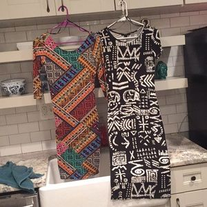 Two small forever 21 midi dresses